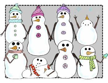 Clipart snowman friends. Digital clip art