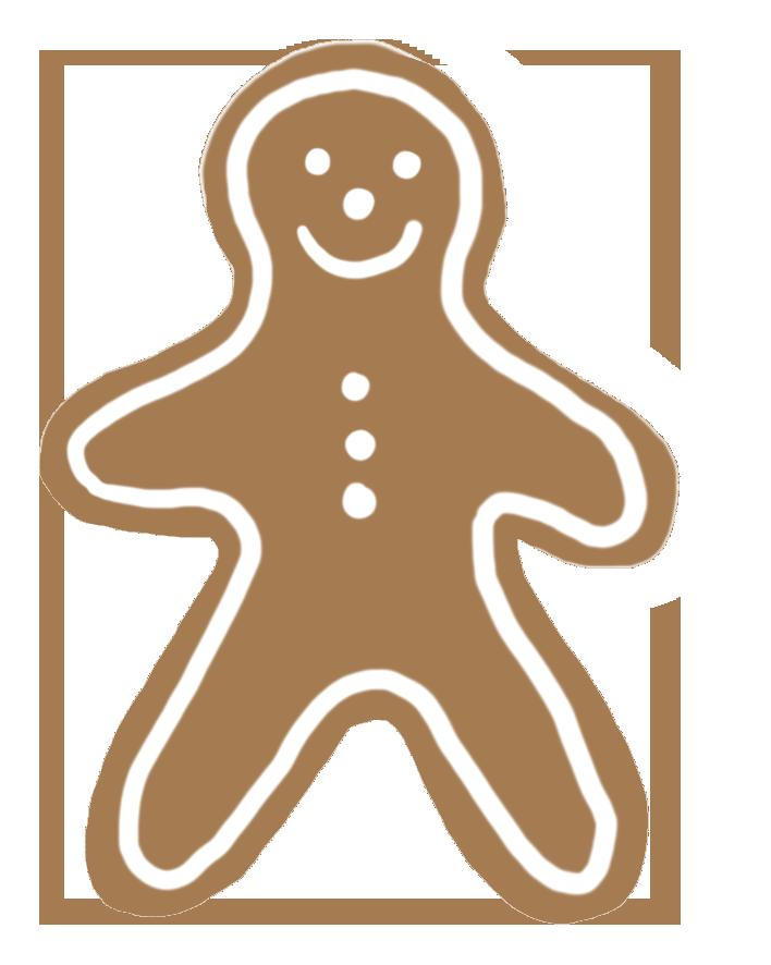 Free christmas woman man. Gingerbread clipart clip art