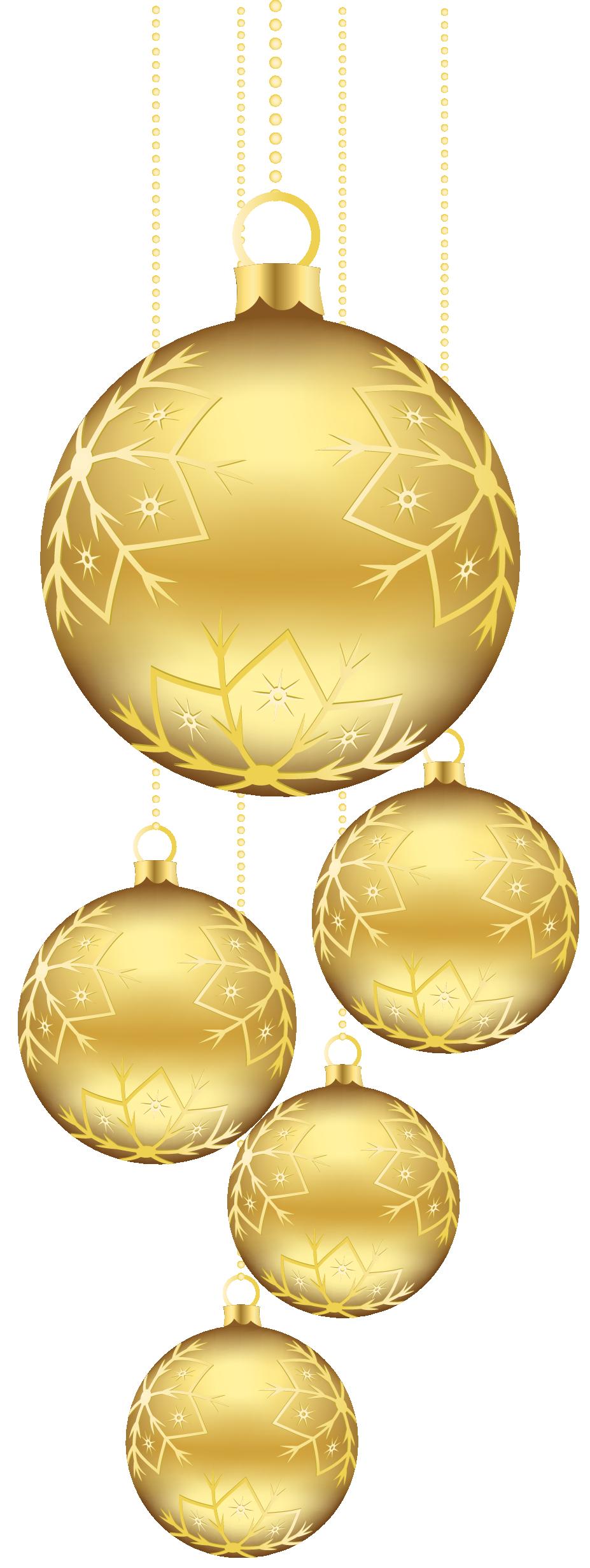 gold clipart xmas