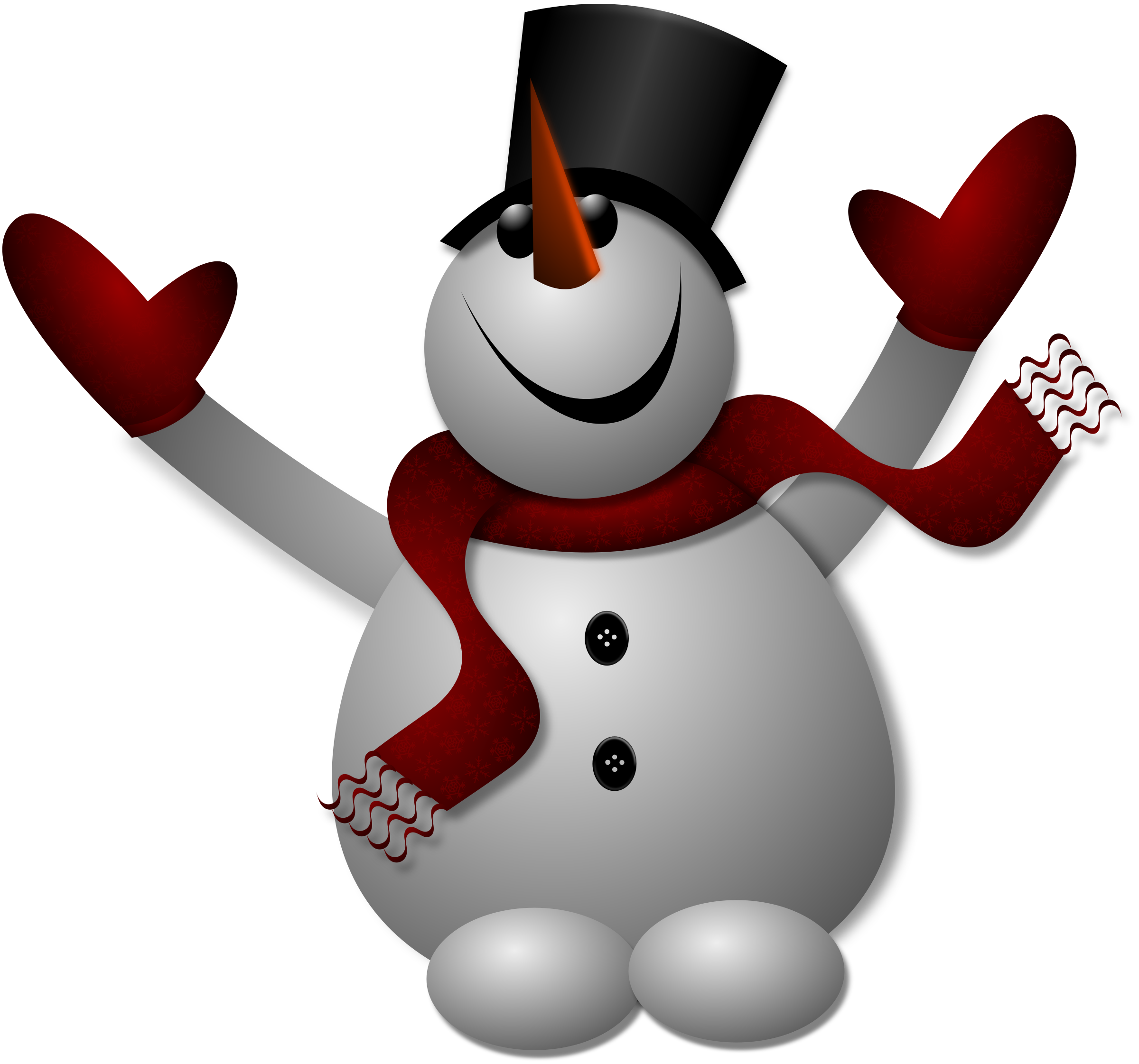 Happy big image png. Mittens clipart snowman