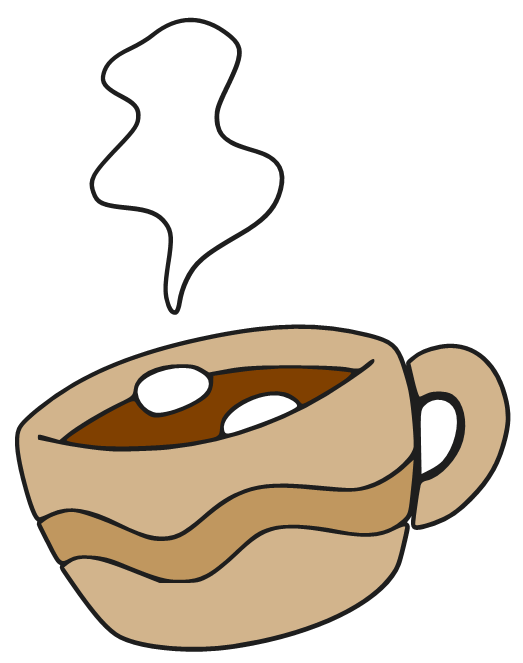 Donut clipart hot chocolate. Image group cartoon cliparts