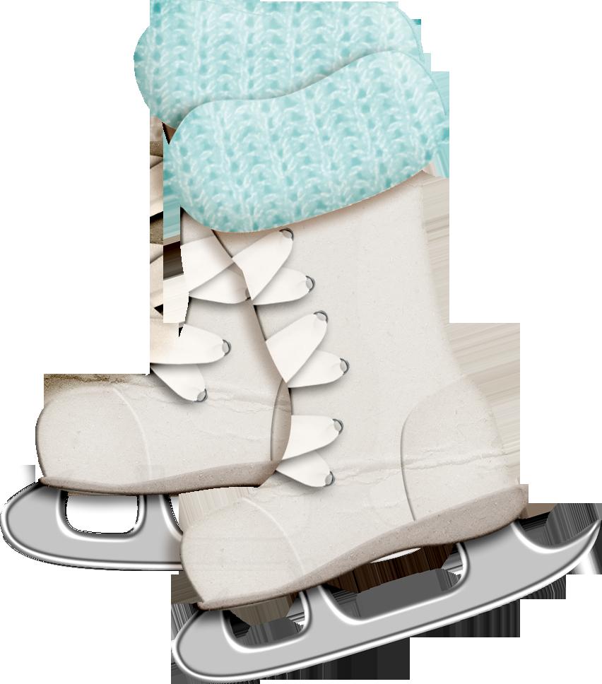 Winter clipart boot. Ice skates yandex pinterest