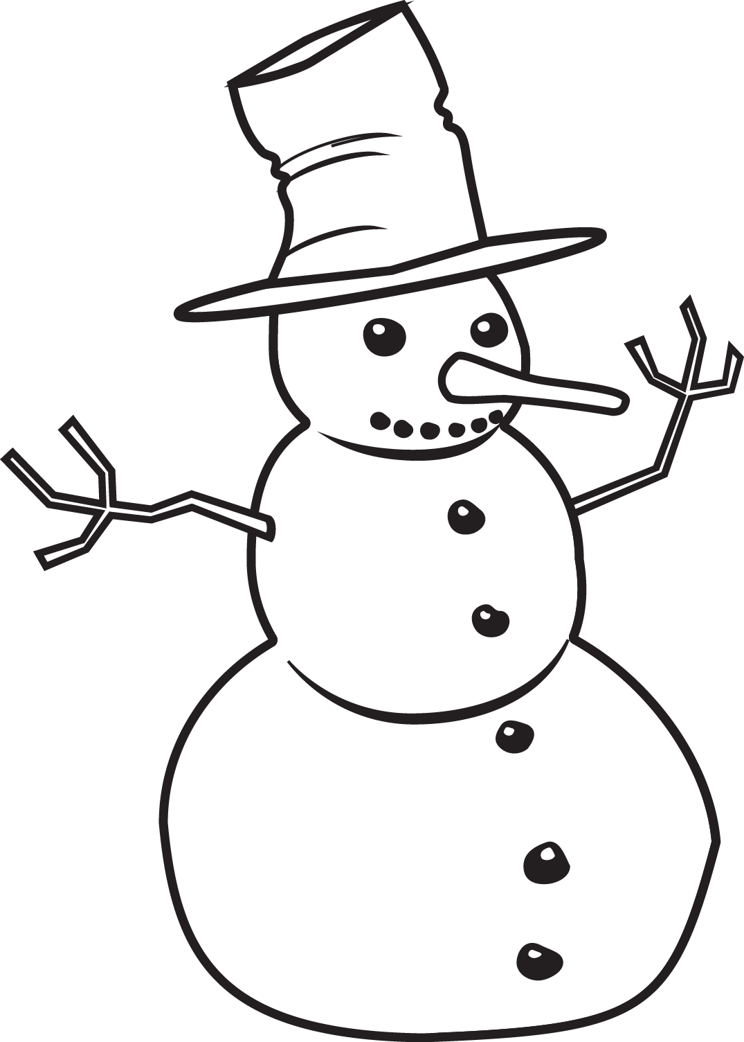 Clipart Snowman Outline Clipart Snowman Outline Transparent Free For Download On Webstockreview 2020