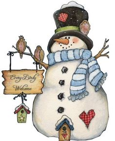 Snowman clipart country. Painting cliparts zone