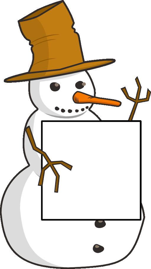 snowman clipart sign
