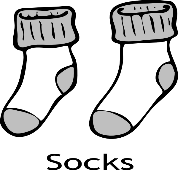 Wednesday clipart sock. Clip art free panda