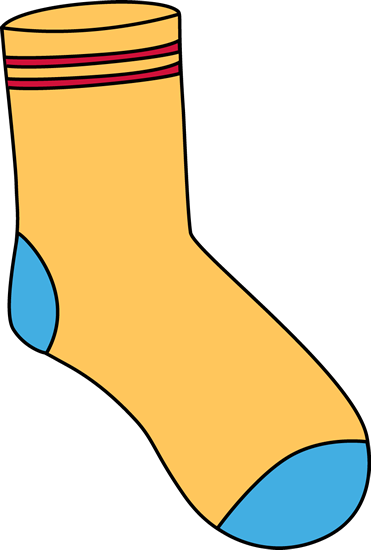 Sock clipart. Clip art images yellow