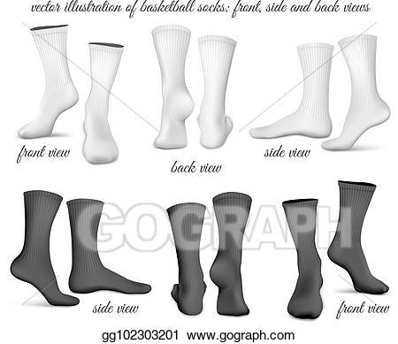 Eps vector basketball front. Clipart socks basket