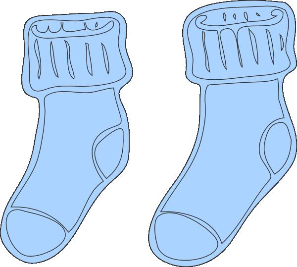 Clipart socks blue socks. Clip art at clker
