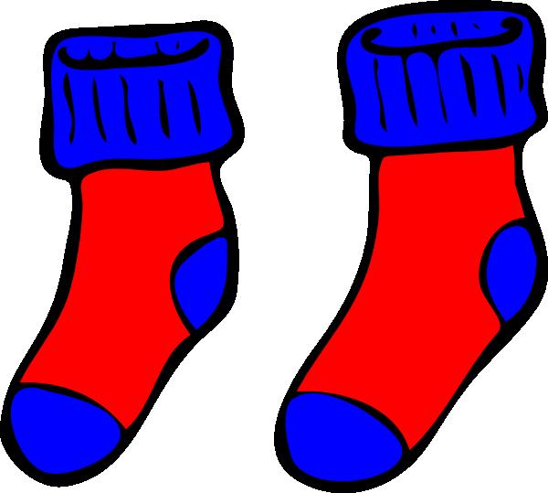 And red clip art. Clipart socks blue socks