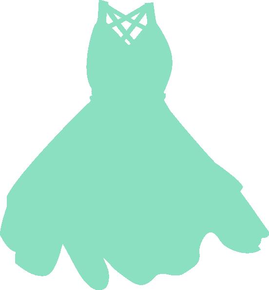 Mint clip art at. Dress clipart cocktail dress