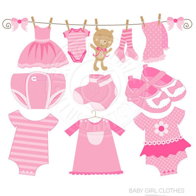 Clothes cute digital commercial. Diapers clipart baby girl