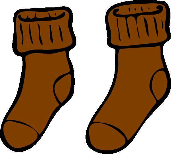 Sock clip art at. Clipart socks brown