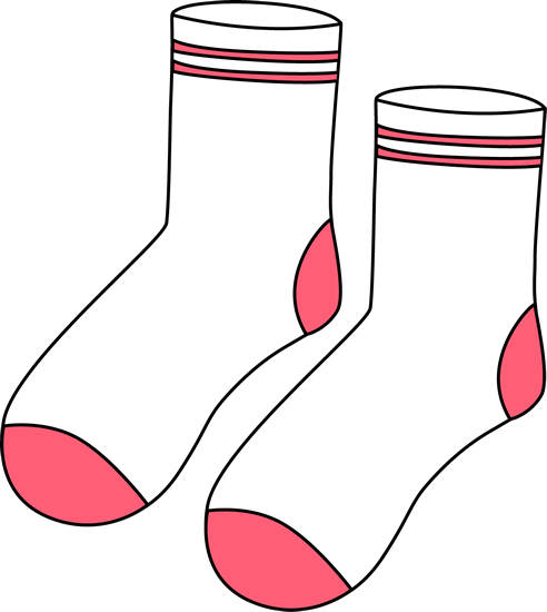 Pair of white and. Clipart socks calcetines