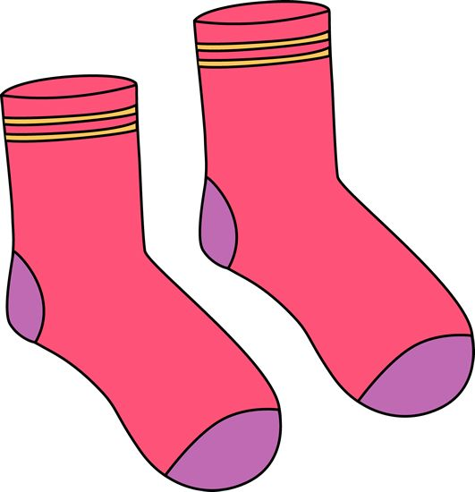 Clipart socks clothes. Pink pair of clip