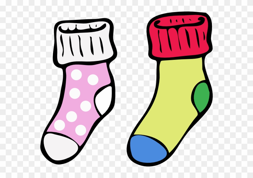 Clipart socks color. Colouring pictures of pinclipart
