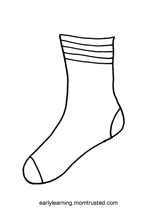Clipart Socks Coloring Page Clipart Socks Coloring Page