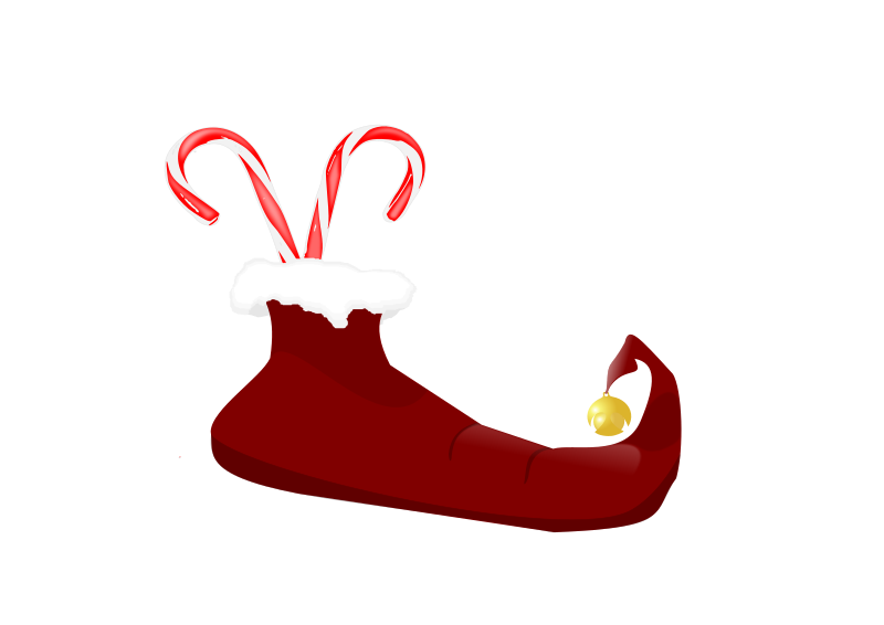 Mittens clipart holiday. Classic shoe shine elf