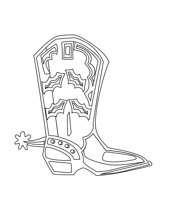 Cowboy clipart line. Sandals drawing at getdrawings