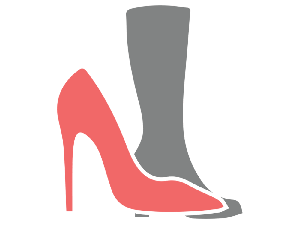 Heels clipart sparkly heel. Shoes vector icon free