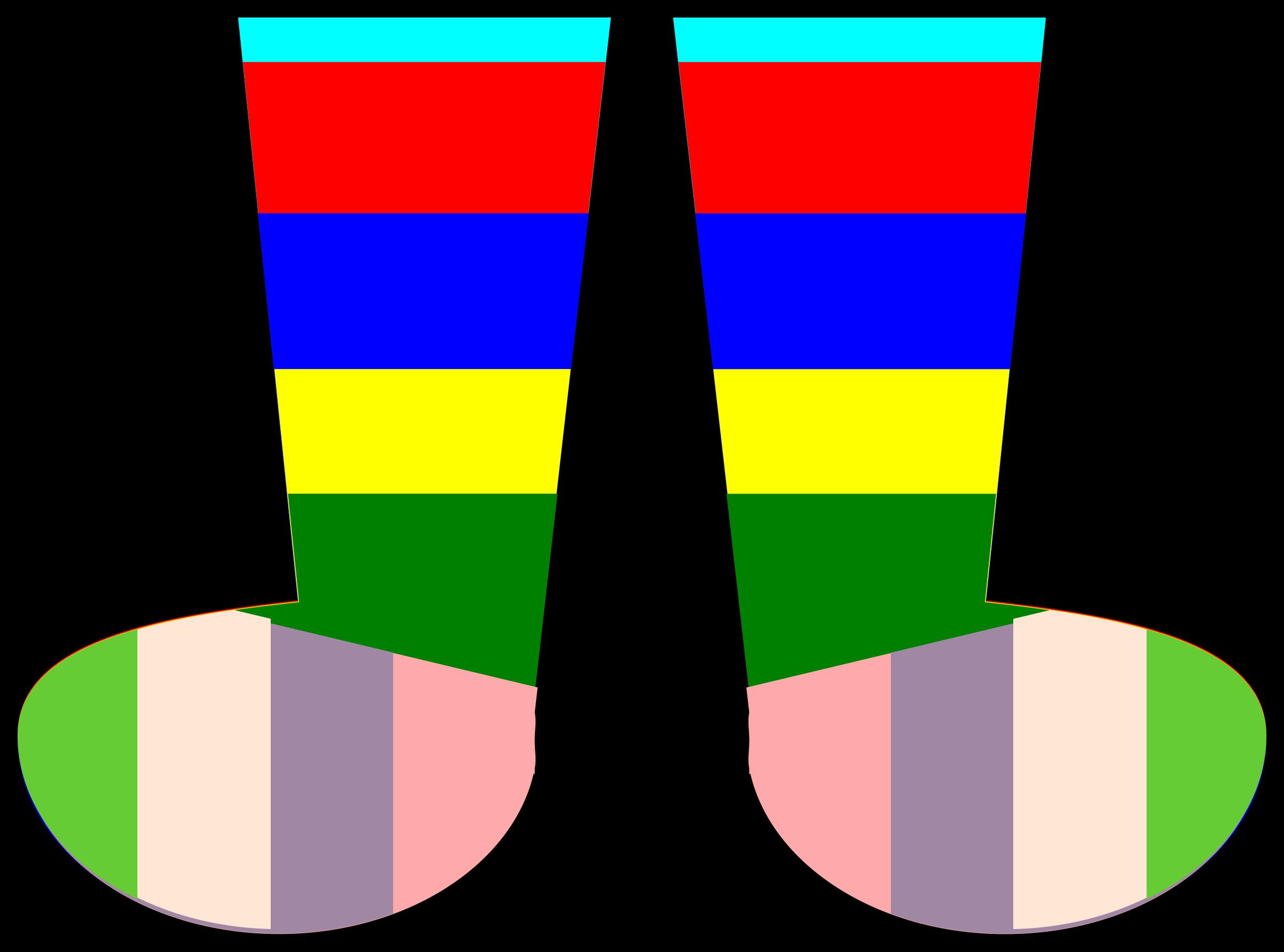 Socks rainbow. Clothing clipart sock