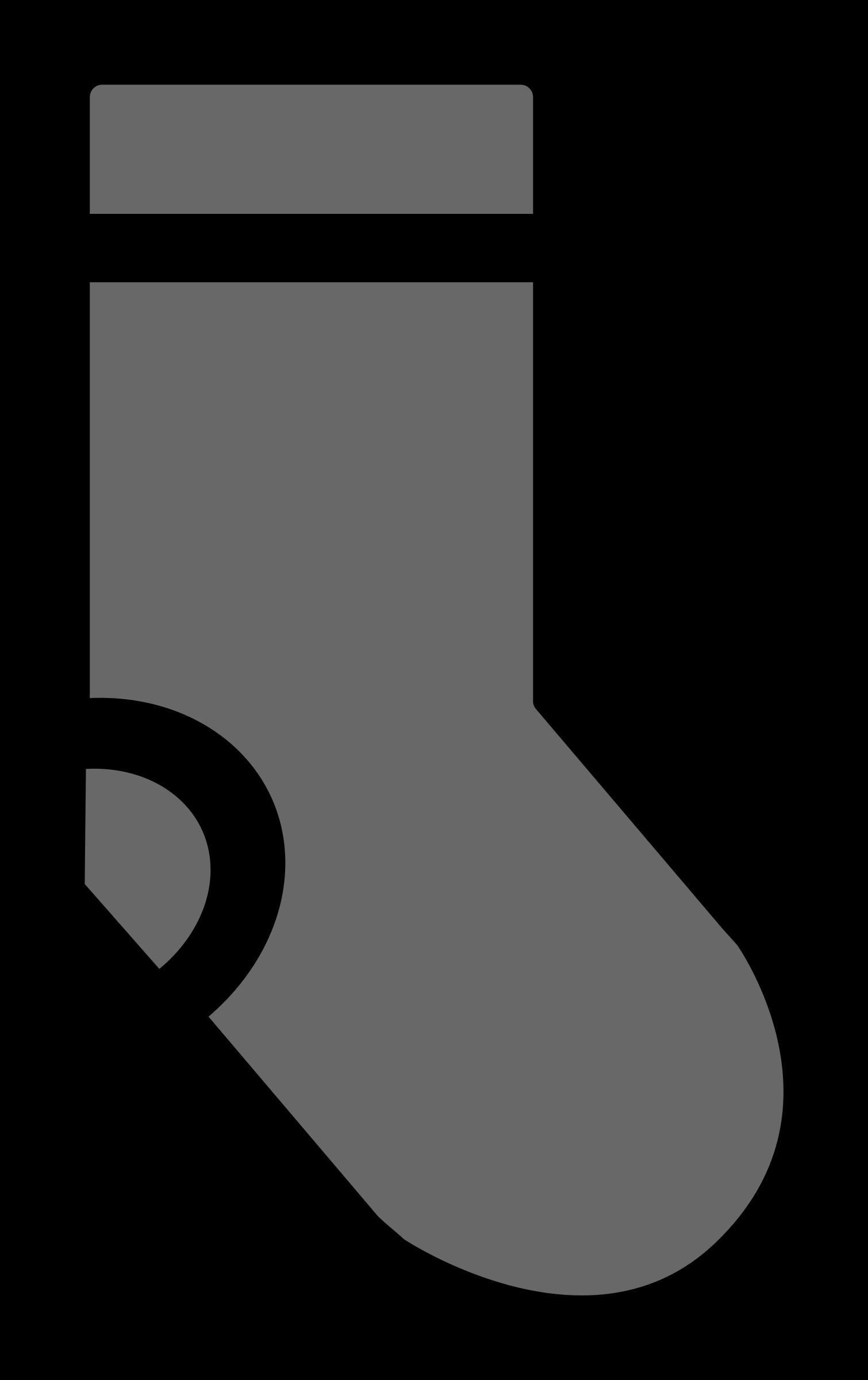 Simple sock big image. White clipart socks