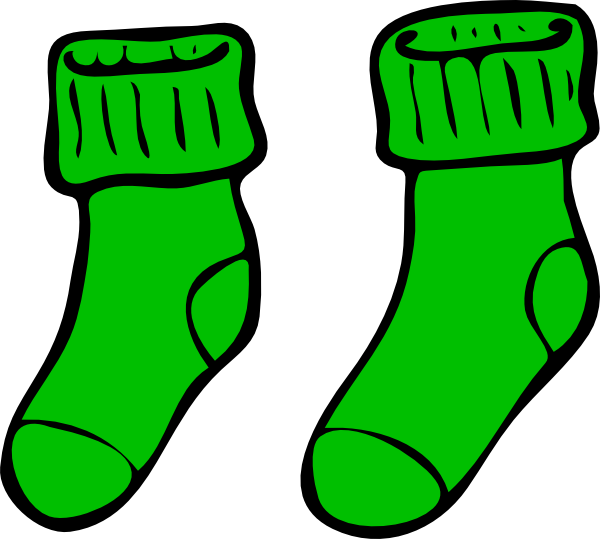 Wednesday clipart sock. Green clip art at