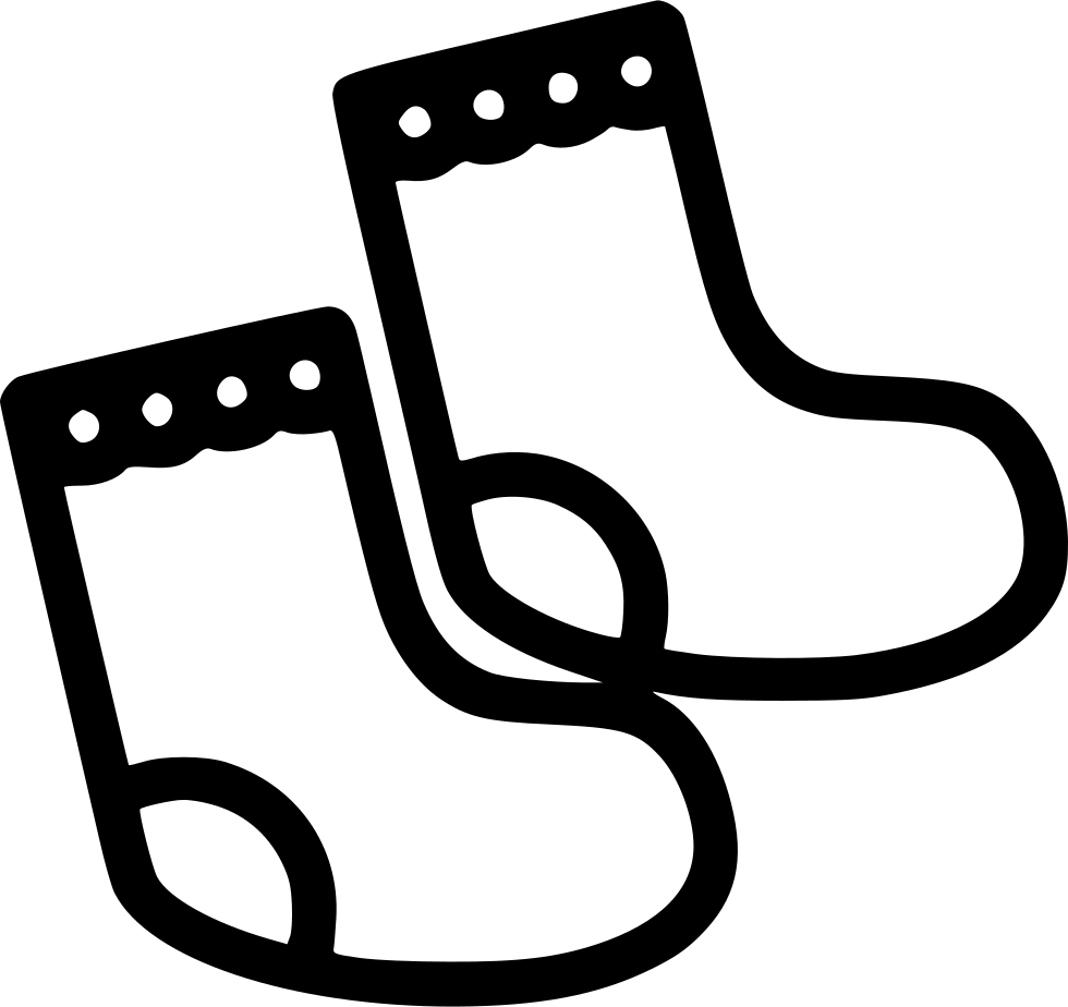 White clipart socks. Baby svg png icon