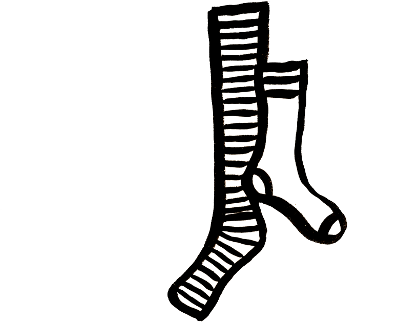 Sock crazy black and. Clipart socks mismatched clothing