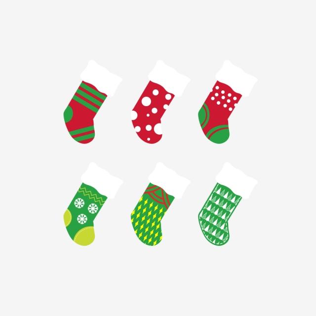 Christmas stocking . Clipart socks night