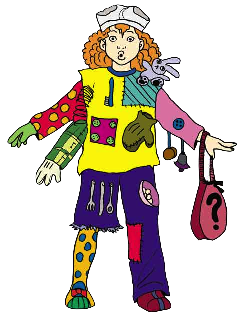 Yearbook clipart mismatched clothes. Wacky clipground crazy hair