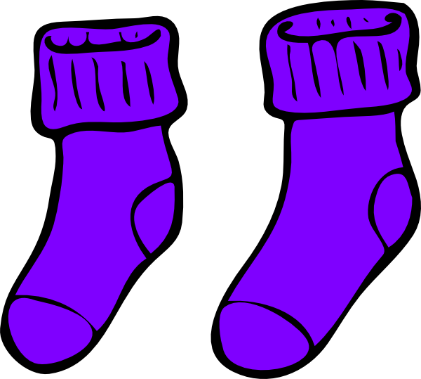 Clothing clipart sock. Purple clip art at