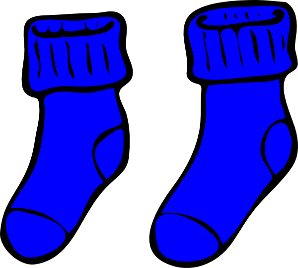 Blue socks clip art. Wednesday clipart sock