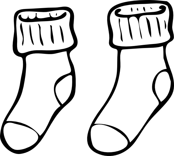 Mismatched images image sock. Clipart socks row