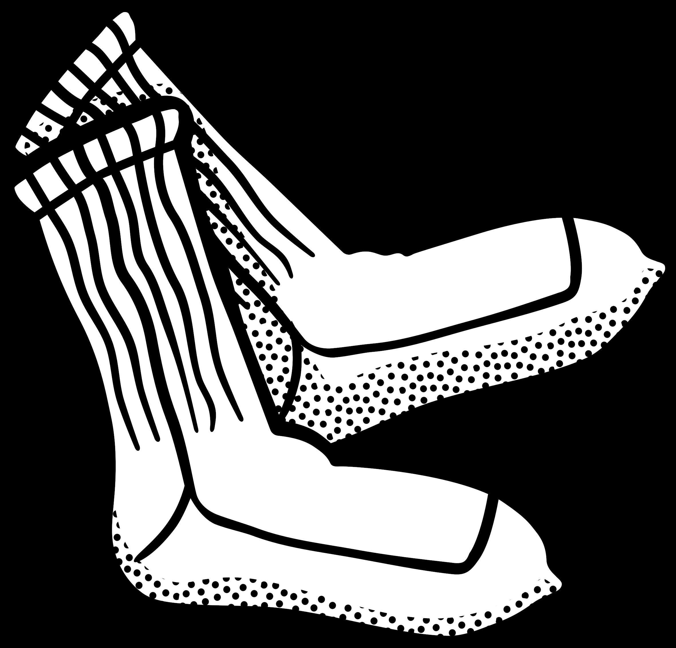 Hd sock line art. Clipart socks school