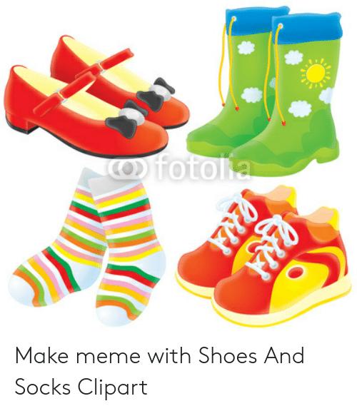 Sock clipart shoe. Cofotolia pna c make