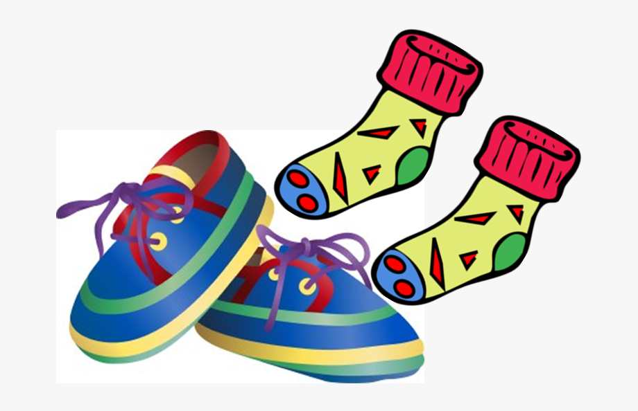 Sock clipart shoe. Socks and shoes clip
