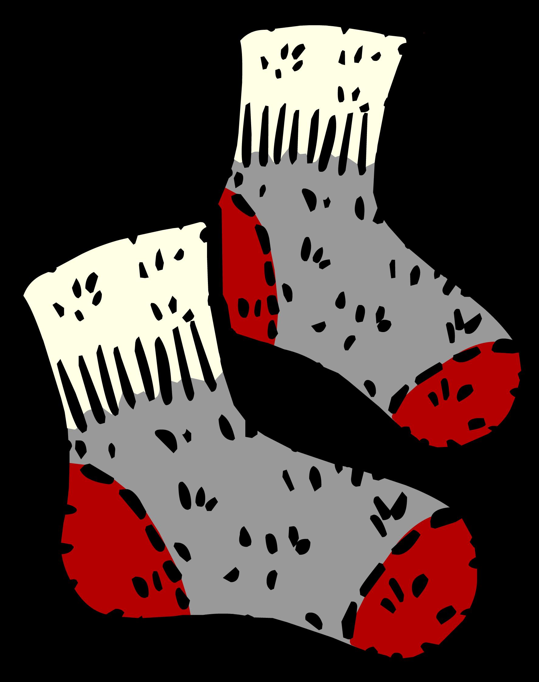 Wool socks club penguin. December clipart sock