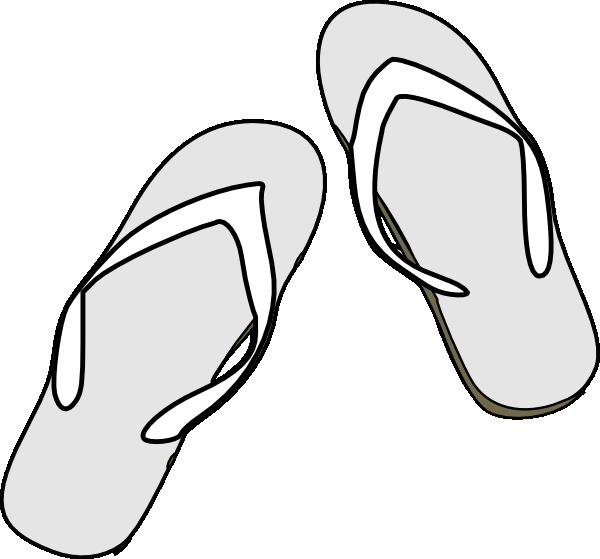 Sunny clipart outline. Flip flops black white