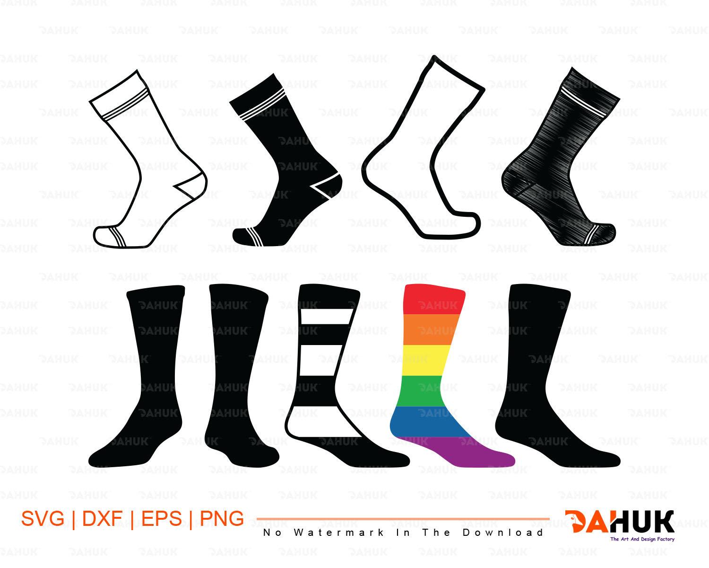 Clipart socks svg. Cut file silhouette eps