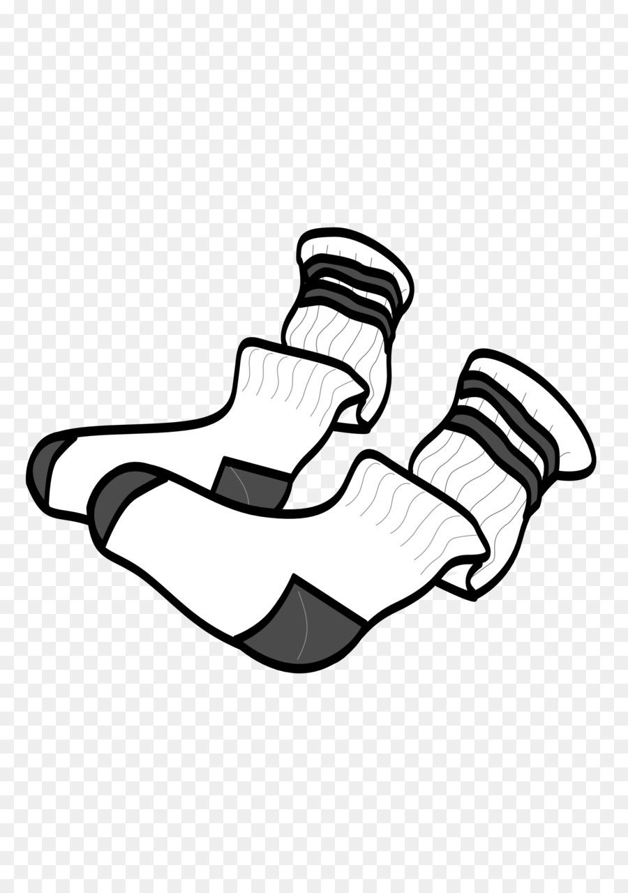 Hand cartoon clothing illustration. Clipart socks used