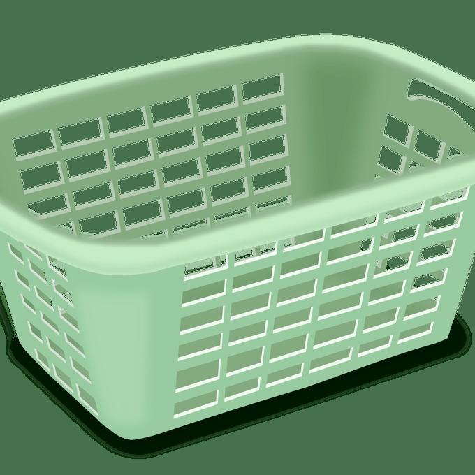 Folding laundry hamper clip. Clothes clipart basketball