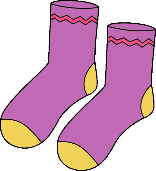 Clip art images purple. Sock clipart