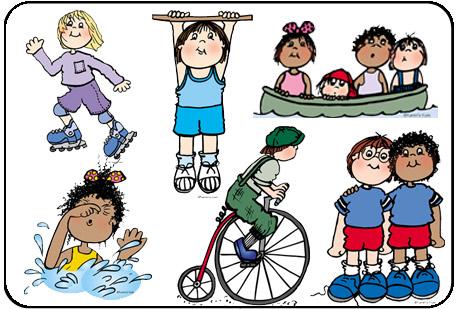 Clipart sports. Kids downloadable