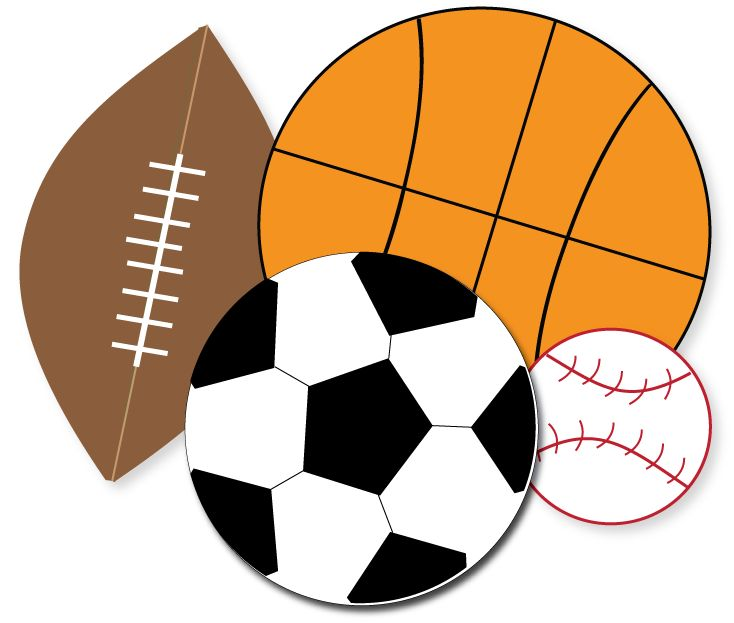 Free for parties crafts. Clipart sports