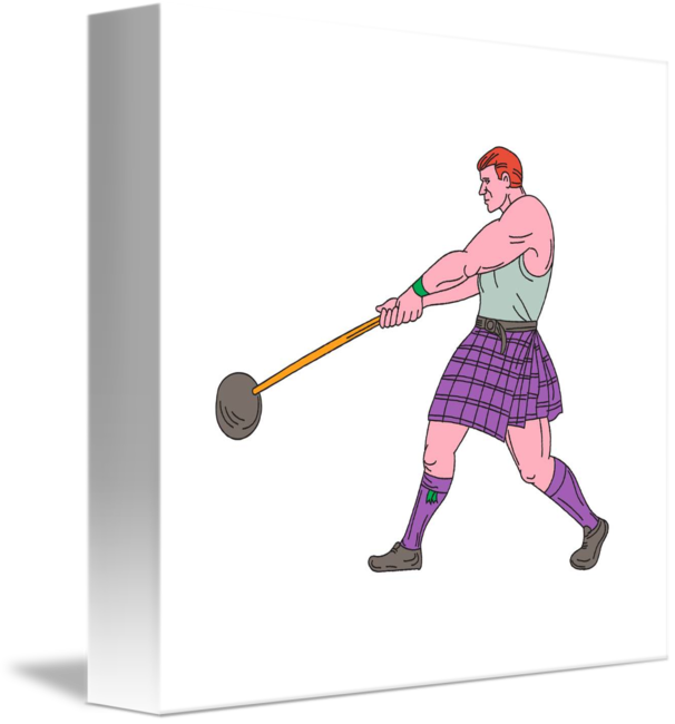 Athlete drawing at getdrawings. Weight clipart drawn