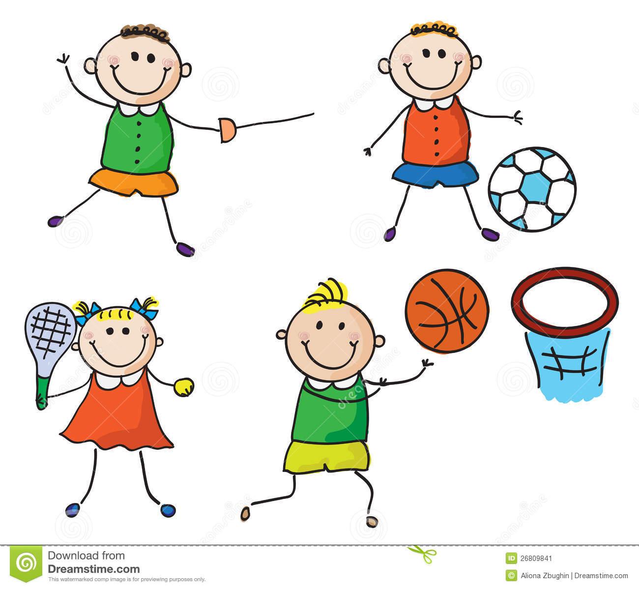Sport children station . Clipart sports children's