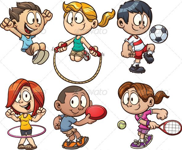 Clipart sports children's. Pin on kevin