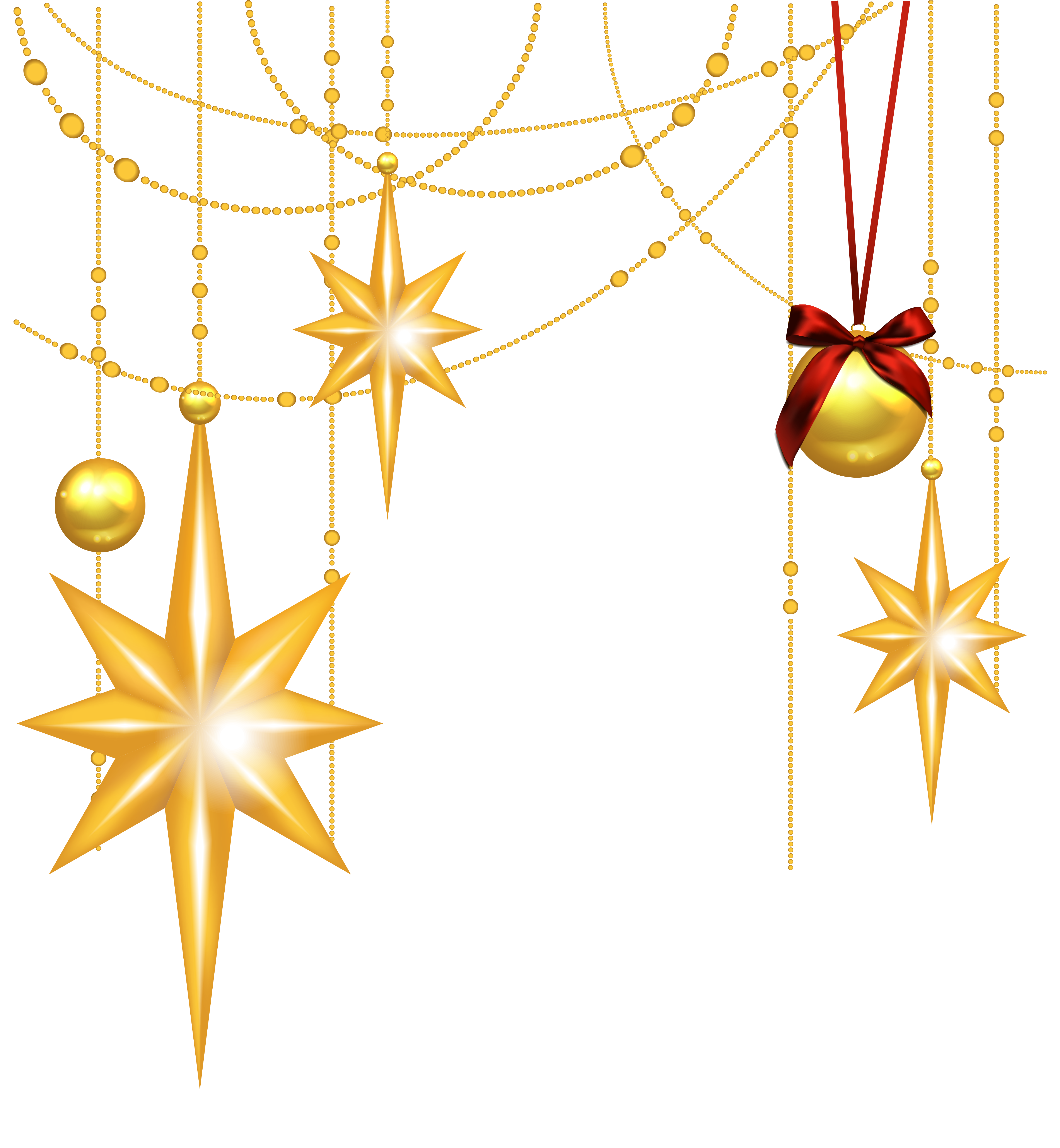 Sports clipart christmas. Transparent gold stars and