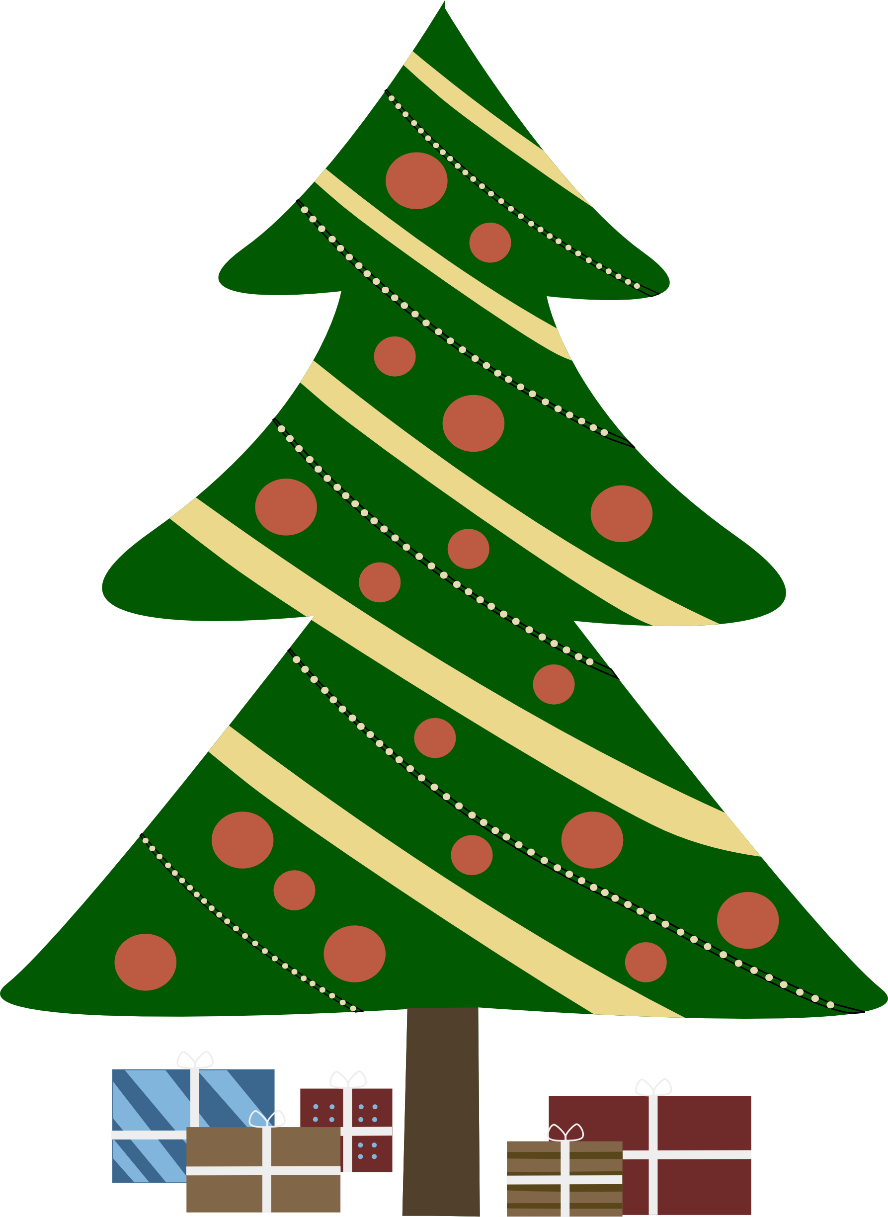Free tree cartoon pictures. Nice clipart christmas